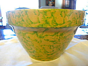 Ransbottom Green Spongeware Bowl