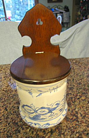 Large High Back Salt Box Vintage