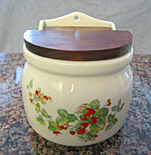 Porcelain Salt Box Strawberrry