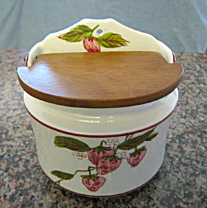 Ceramic Salt Box Vintage Japan