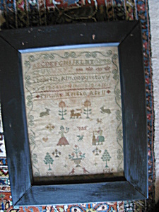 Antique Sampler Signed Dated 1784