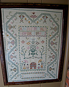 Large Vintage Needlepoint Sampler