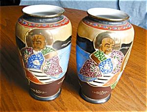 Vintage Satsuma Vase Pair (Image1)