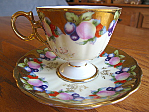 Royal Sealy Fruit Pedestal Teacup (Image1)
