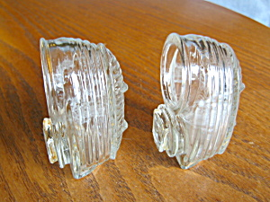 Vintage Glass Bird Seedcups