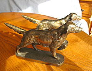 Setter Dog Antique Bookends