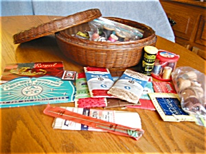 Antique Sewing Basket Assortment (Image1)
