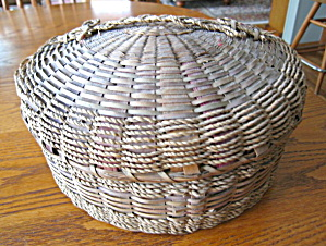 Large Native American Sewing Basket