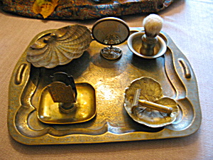 Vintage Brass Shaving Accessories