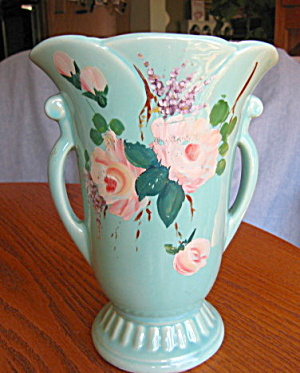Large Shawnee Hand Decorated Vase