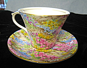 Vintage Shelley Teacup Rock Garden
