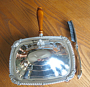 Silverplate Silent Butler And Brush