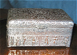 Antique Silver Plate Box (Image1)