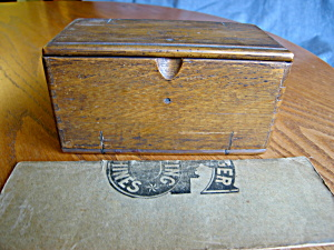 Patented Sewing Attachments Box And Pamphlet