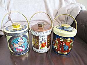 Small Vintage Tin Trio