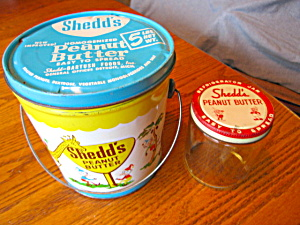 Vintage Shedd's Peanut Butter Tin And Jar