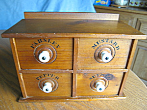 Antique Four Drawer Spice Box