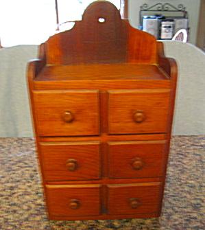 Vintage Wooden Spice Cabinet (Image1)