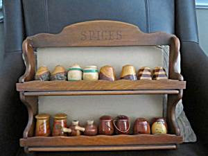 Spice Rack & Vintage Souvineer Shakers (Image1)