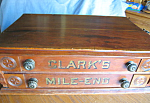 Antique Clark S Mile End Spool Cabinet Sewing Baskets