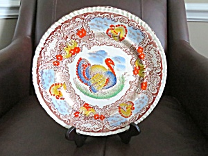 Antique Staffordshire Enameled Display Plate (Image1)