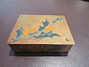 Antique German Brass Stamp Box