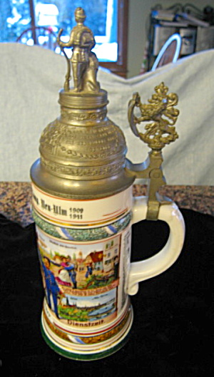 German Regimental Lithopane Stein
