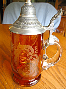 Taube-Glas Etched Glass German Stein (Image1)