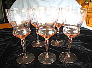 Elegant Cut Glass Stemware (Image1)