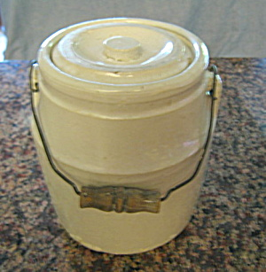 Antique Stoneware Lidded Crock (Image1)
