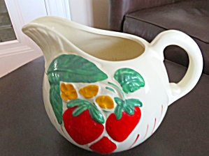 American Bisque Strawberry Ball Pitcher