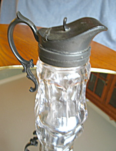 Antique Blown Glass Syrup Pitcher