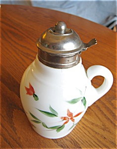 Victorian Milk Glass Syrup Pitcher