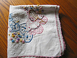 Embroidered Colonial Ladies Tablecloth