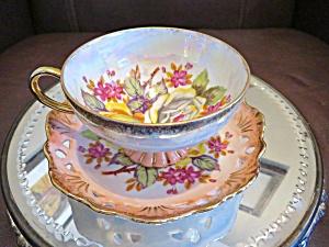 Lustre Flower Cutout Teacup (Image1)
