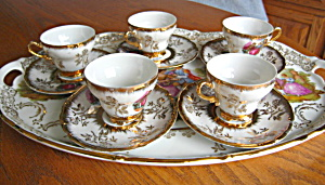 Vintage Wales China Demitasse Teacup Set