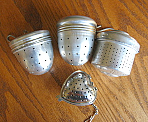 Four Tea Strainers