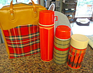 Thermos Sack And Bottles