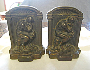 Antique Iron Thinker Bookends