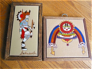 Native American Framed Art Tiles