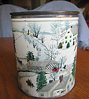 Vintage Tin Kitchen Container