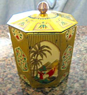 Egyptian Theme Vintage Tin