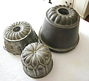 Antique Tin Kitchen Molds