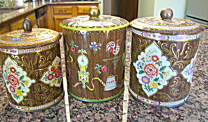 Vintage Tin Cannisters Daher