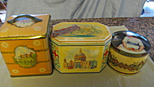 Vintage Biscuit And Toffee Tins