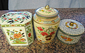 Vintage Tins Collectible Three