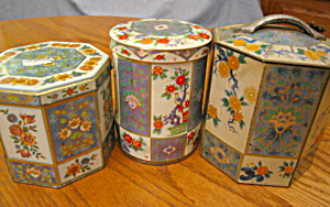 Vintage Tins Collectible Blue