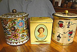 Three Collectible Vintage Tins