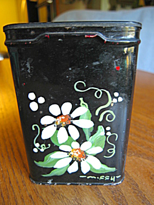 Tole Painted Tobacco Tin (Image1)