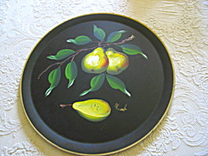 Hand Painted Tray Vintage Signed (Image1)
